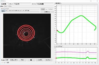 それぞれの円の中心位置から情報通信管路位置を計測